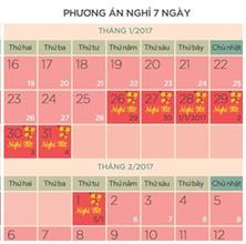 Lịch nghỉ tết 2017 Đinh Dậu