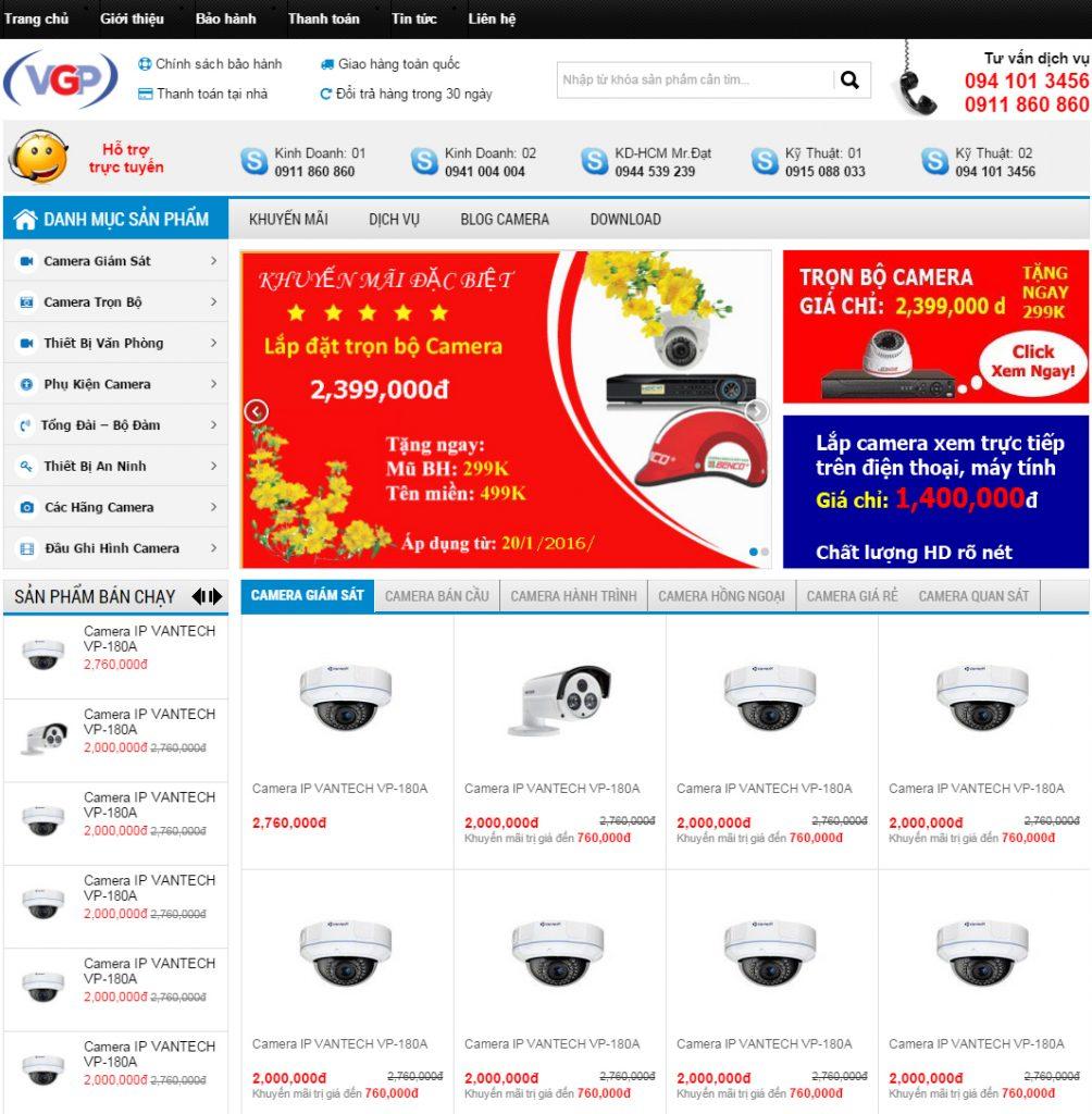 Thiết kế website camera