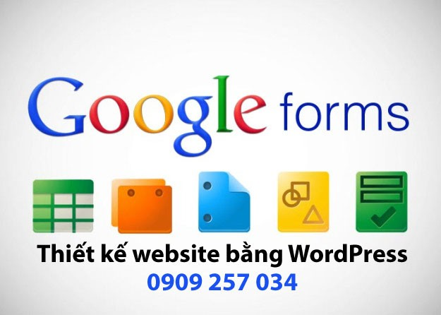 Nhúng Google Form Website WordPress