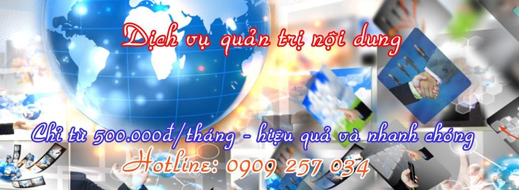 Dịch vụ quản trị nội dung website của Công Ty HWP chỉ từ 500,000đ/tháng