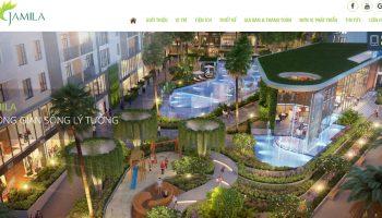 Thiết kế website bất động sản 1 dự án Jamila Khang Điền Quận 9