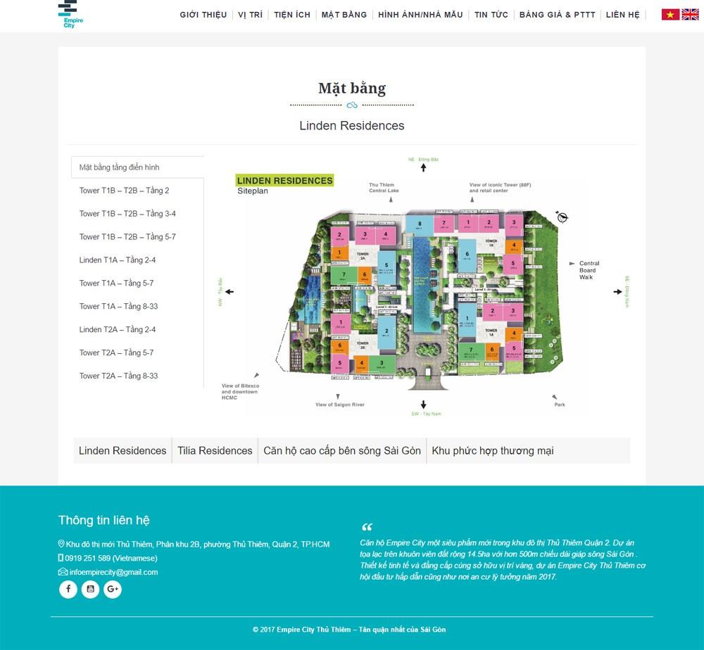 Thiết kế website bất động sản 1 dự án TNHH ProHOUSE 2