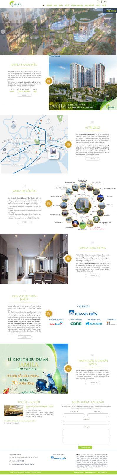 Thiết kế website bất động sản 1