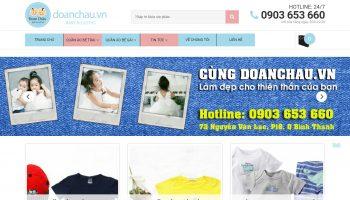 Thiết kế website thời trang trẻ em Đoàn Châu