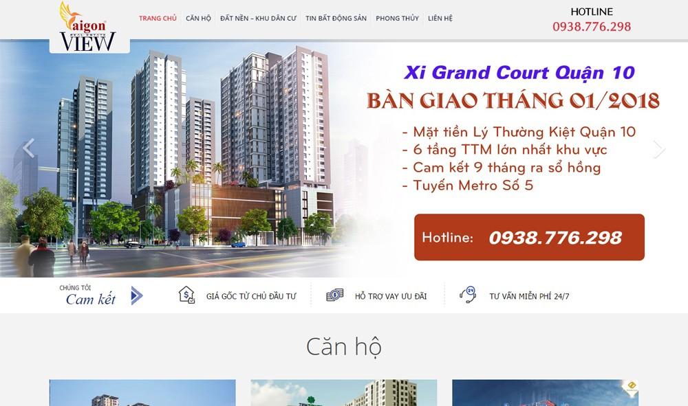 Thiết kế web bất động sản SAIGON VIEW