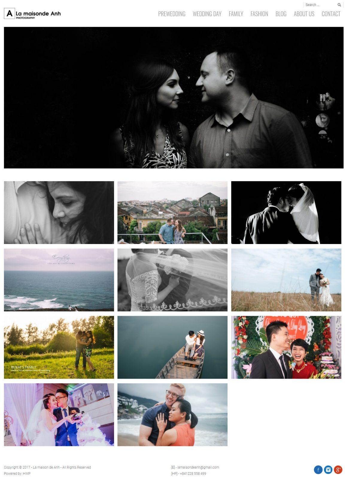 Thiết kế website studio ảnh cưới