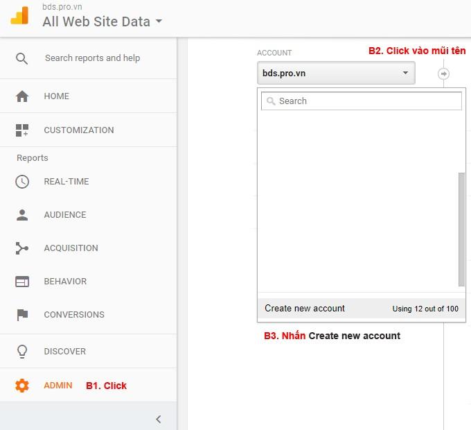 Cài thêm tài Google Analytics cho website khác