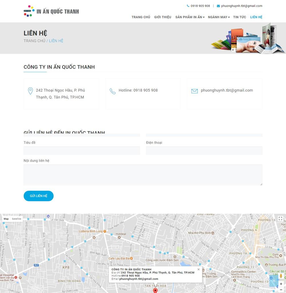Thiết kế website công ty giá rẻ
