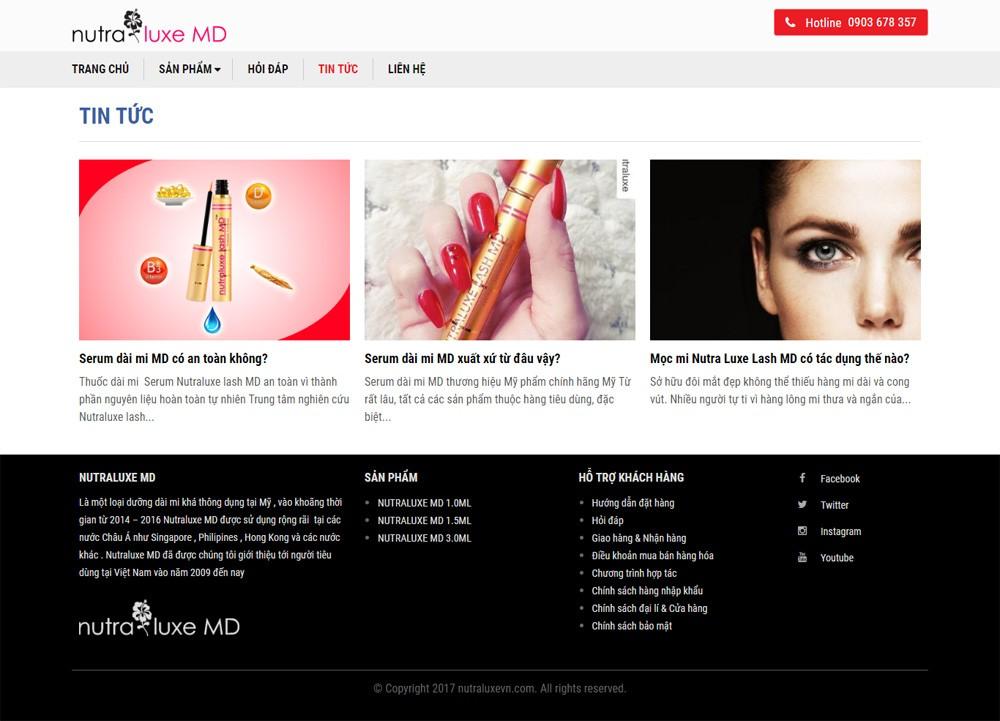 Website landing page sản phẩm