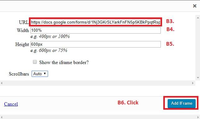 Chèn Google Form