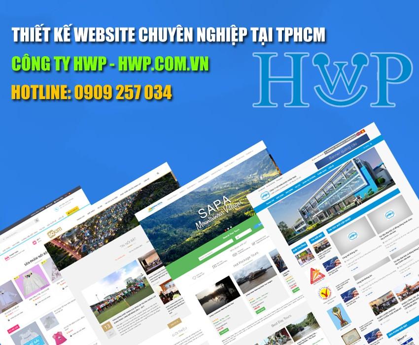 Thiết kế website chuyên nghiệp tại tphcm HWP.com.vn