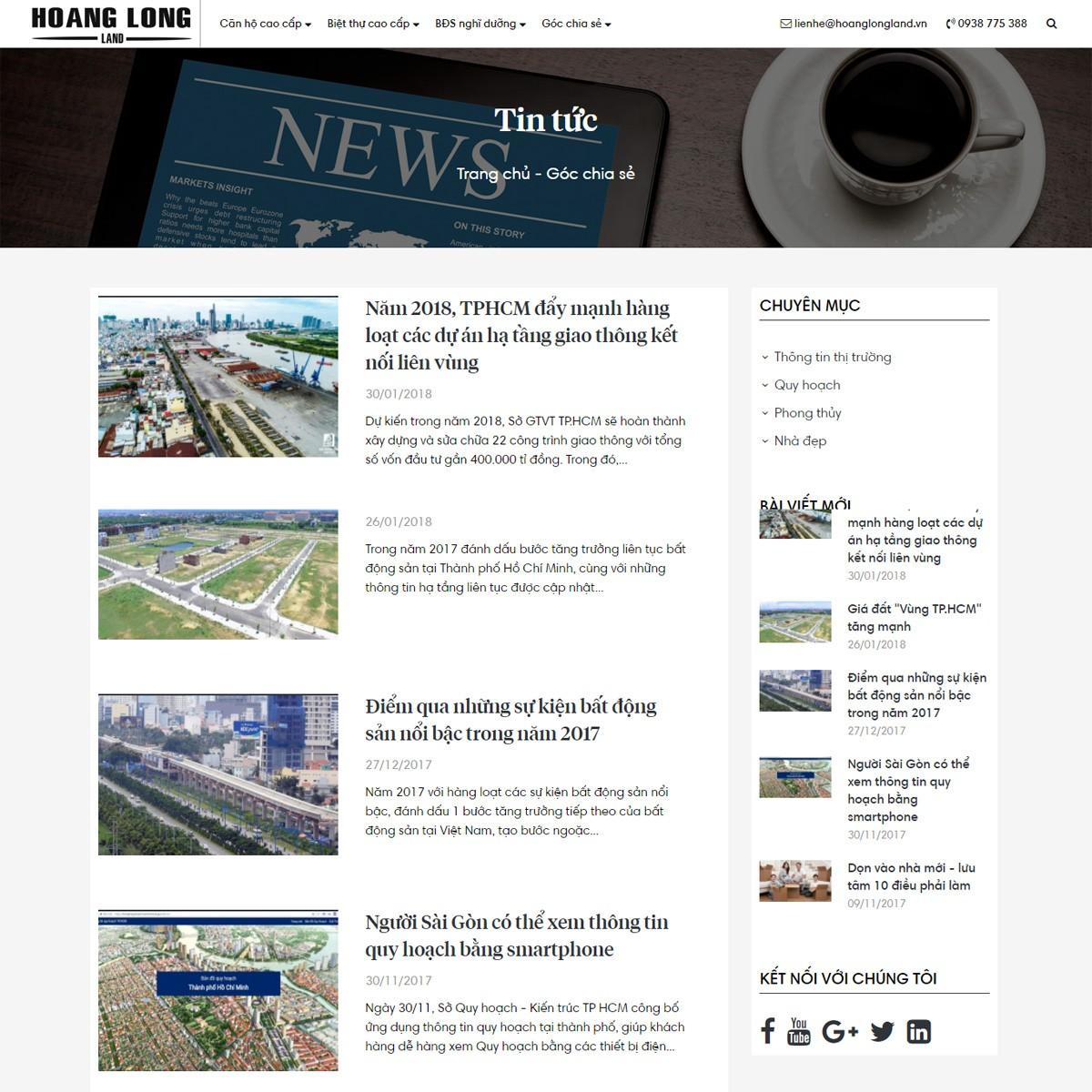 Thiết kế website bất động sản giá rẻ