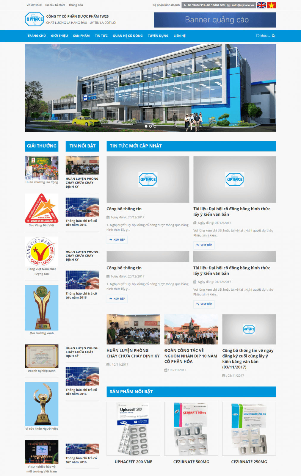 website công ty công phần dược phẩm TW 25
