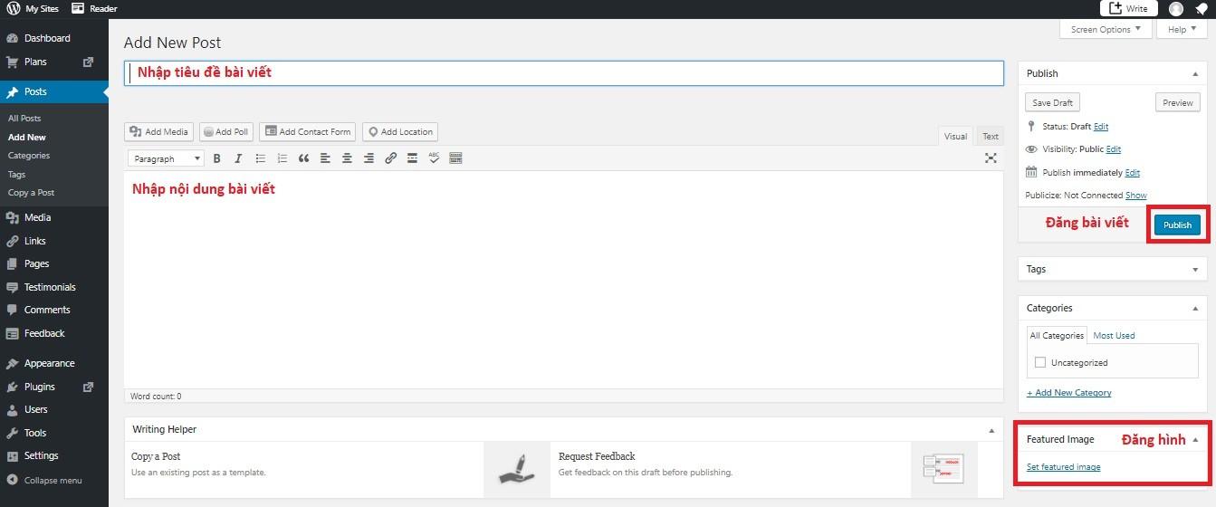 Cách đăng bài viết trong website wordpress