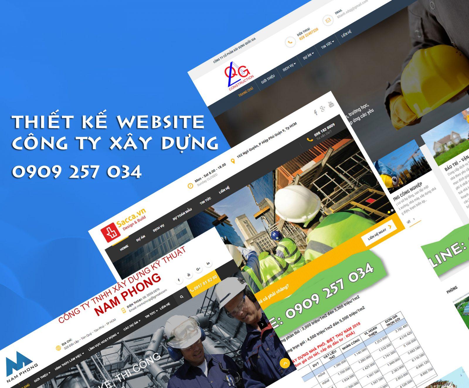 mẫu website công ty xây dựng