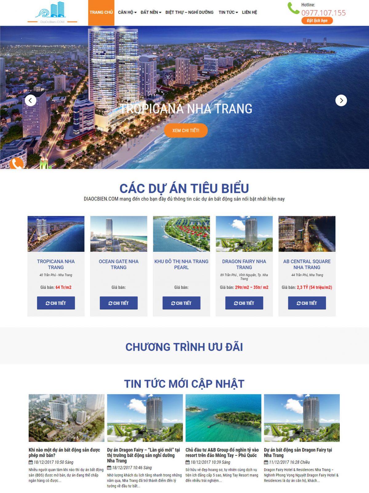 những mẫu trang web bất động sản đẹp nhất