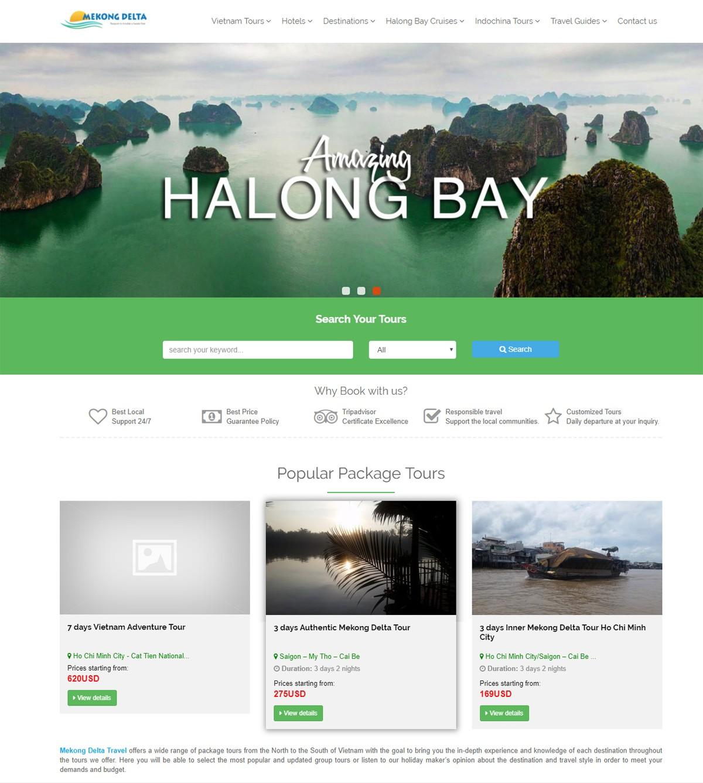 Thiết kế web du lịch bằng wordpress