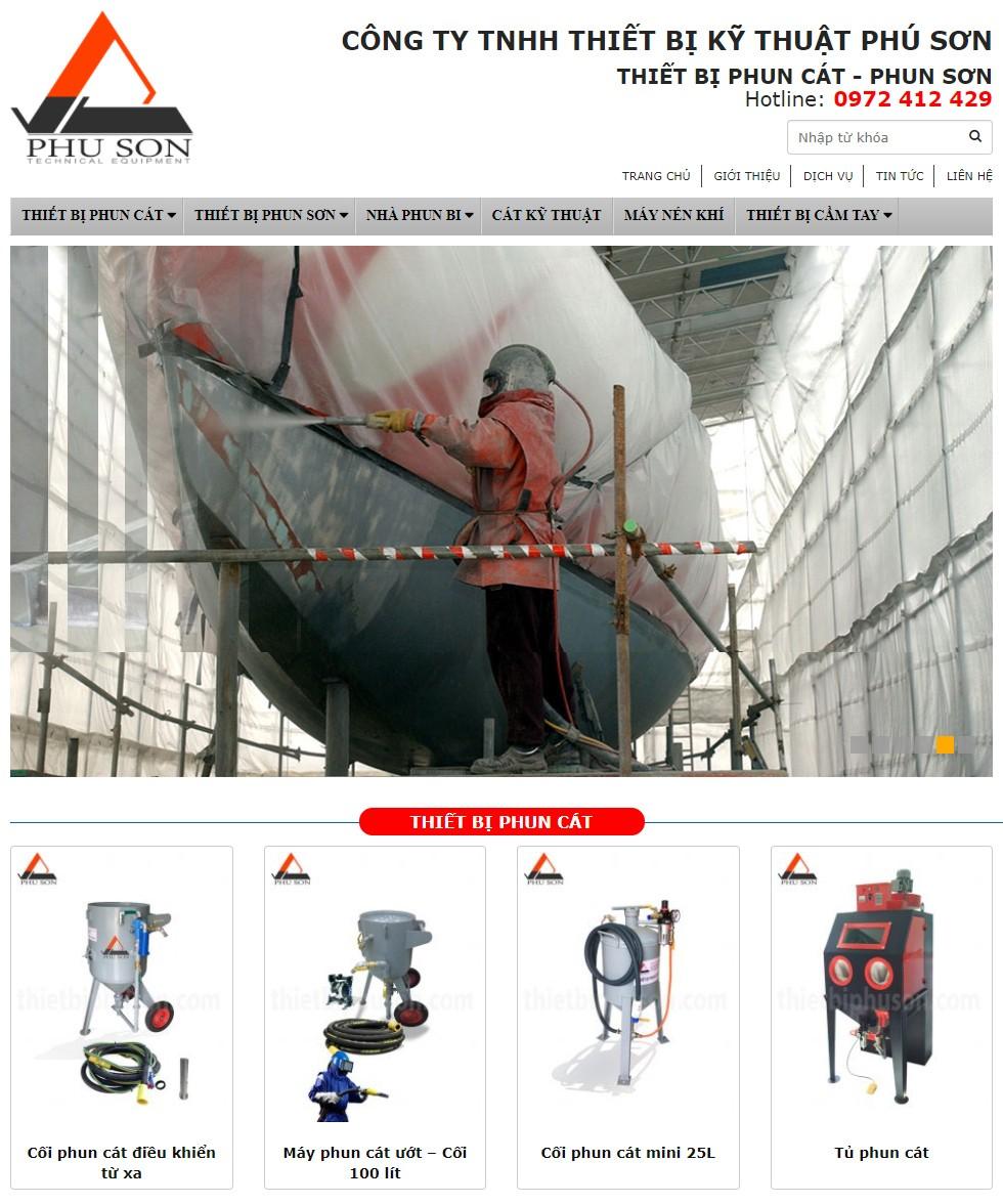 Thiết kế website công ty Phú Sơn được thiết kế bởi công ty HWP