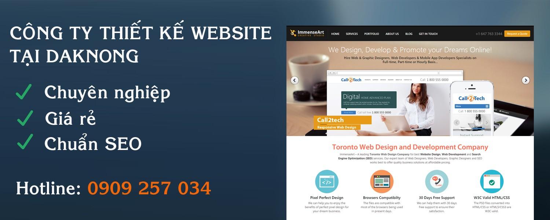 Công ty thiết kế web tại ĐakNong