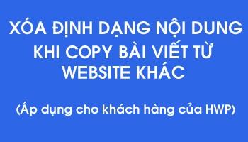 Xóa định dạng nội dung website