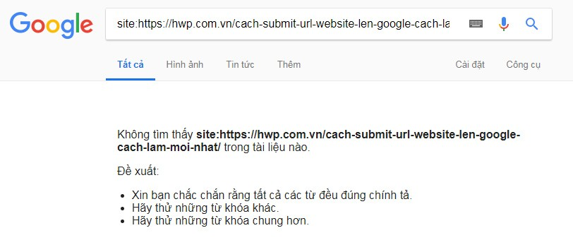 Submit URL Website Lên Google