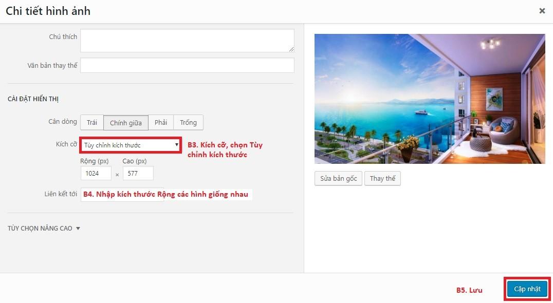 Chỉnh hình điều nhau trong website