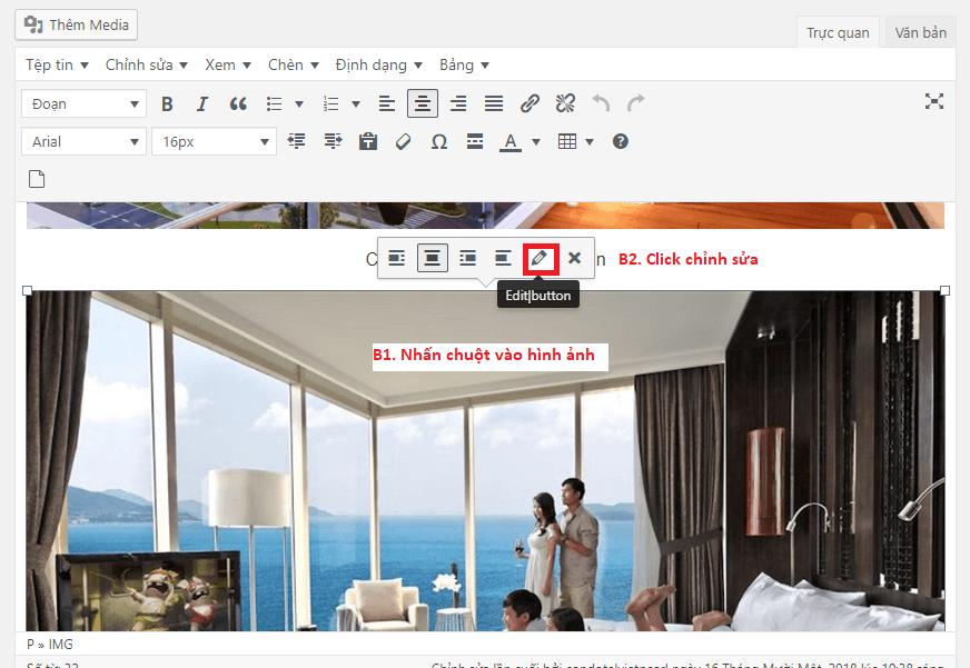 Chỉnh hình bằng nhau trong website wordpress