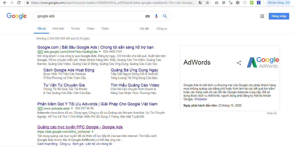 Lấy code Google Remarketing Ads