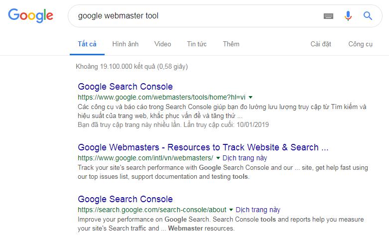 Xác Minh Google Master Tool