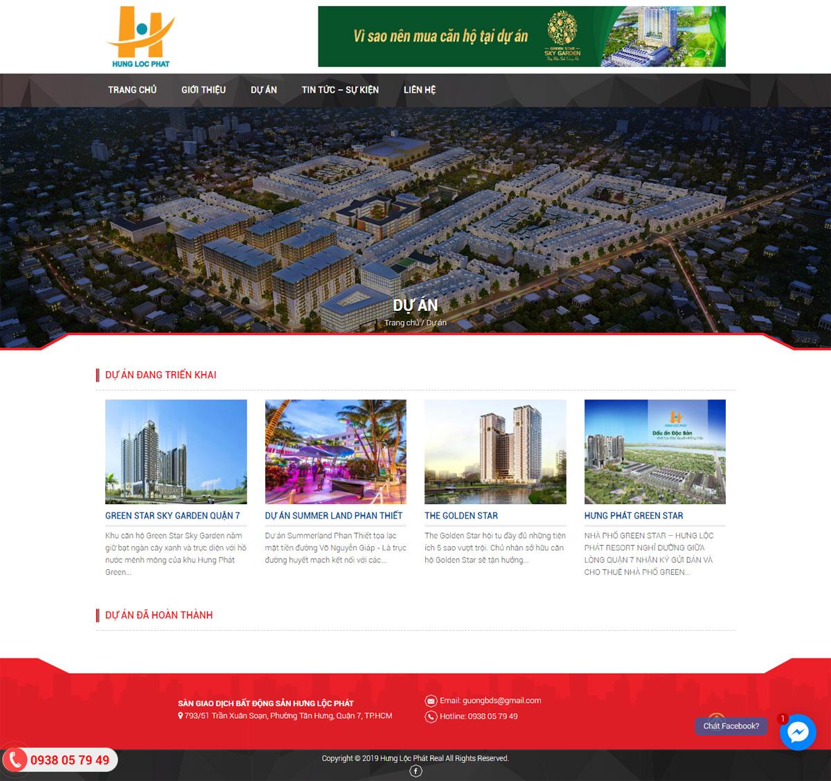 Thiết kế website bất động sản bằng wordpress
