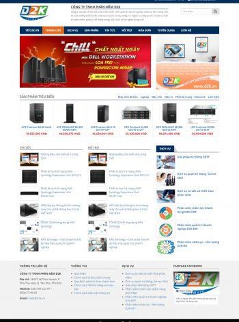 Thiết kế website sản phẩm dịch vụ d2ksuachuabaotri.vn
