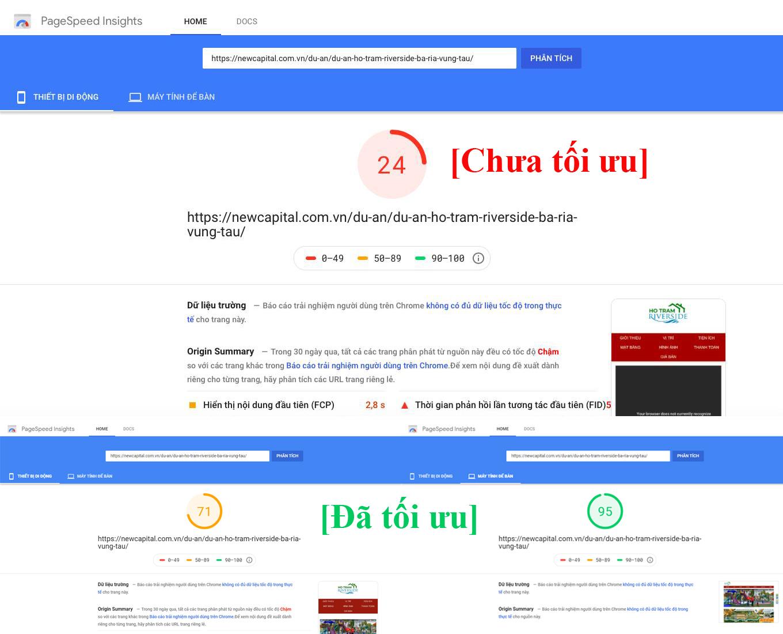 Tối ưu tốc độ load website trên mobile & máy tính