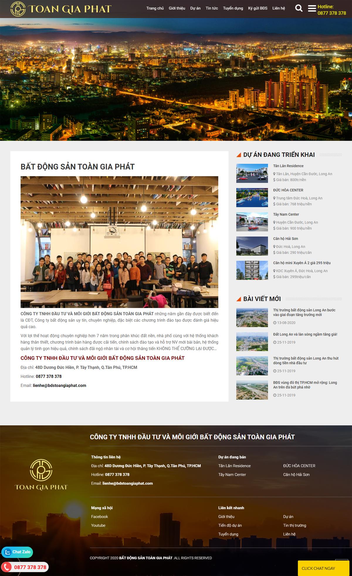 website công ty bất động sản bdstoangiaphat.com