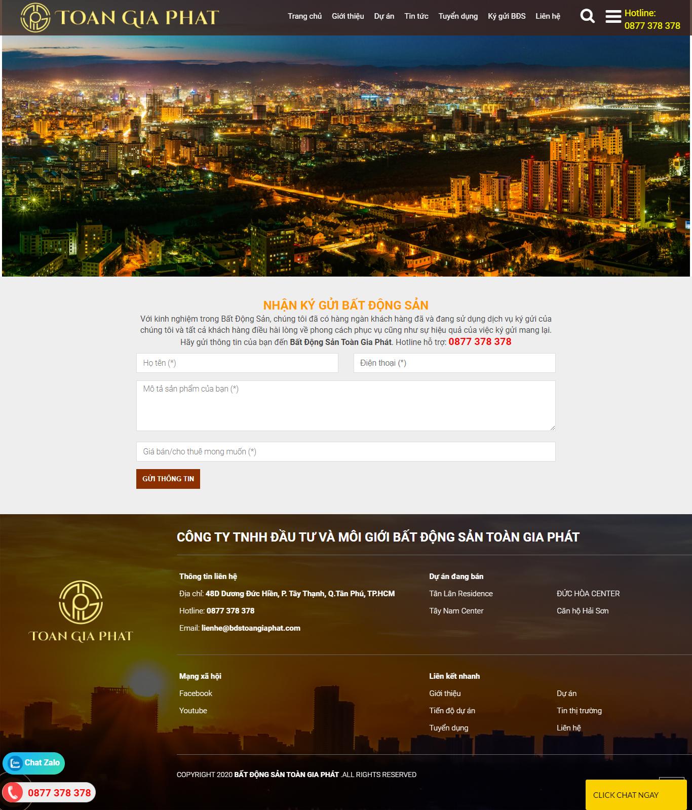 Trang ký gửi BĐS website công ty bất động sản bdstoangiaphat.com