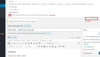 Bật trình soạn thảo văn bản toàn chiều cao và chức năng tránh mất tập trung