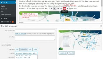 Cách chỉnh sửa hình ảnh trong website wordpress
