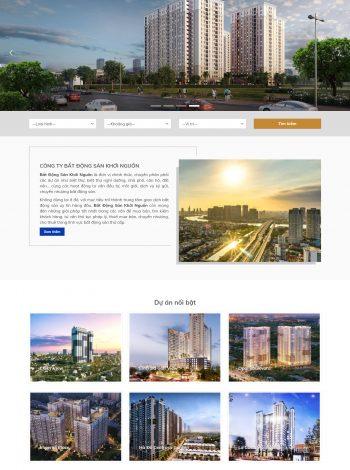 Thiết kế website công ty BĐS dự án, cho thuê, mua bán khoinguonreal.com