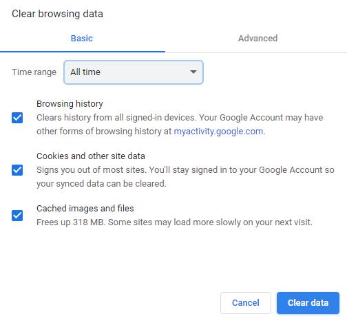 Xoá cache trên trình duyệt Chrome (Tiếng Anh)